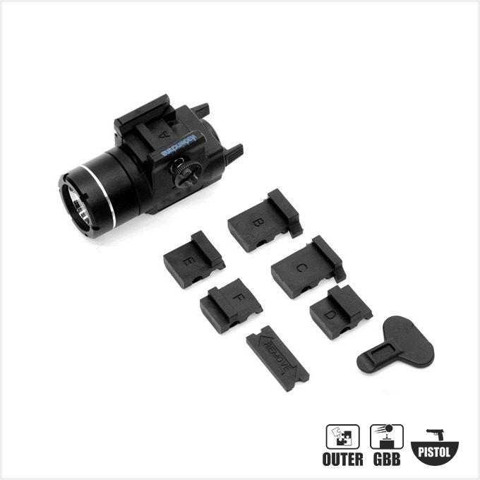 [레플리카] S/TLR-3 Tactical LED Flashlight Weapon Light Picatinny / GLOCK-style Rails [BK]