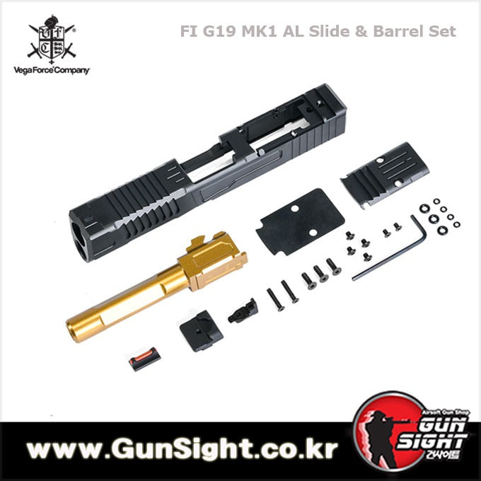 VFC FI MK1 G19 Aluminum RMR Slide & Barrel Set for Umarex / VFC Glock 19X , 19 Gen4 / Gen5 GBB Pistol Series ( Licensed by FI )