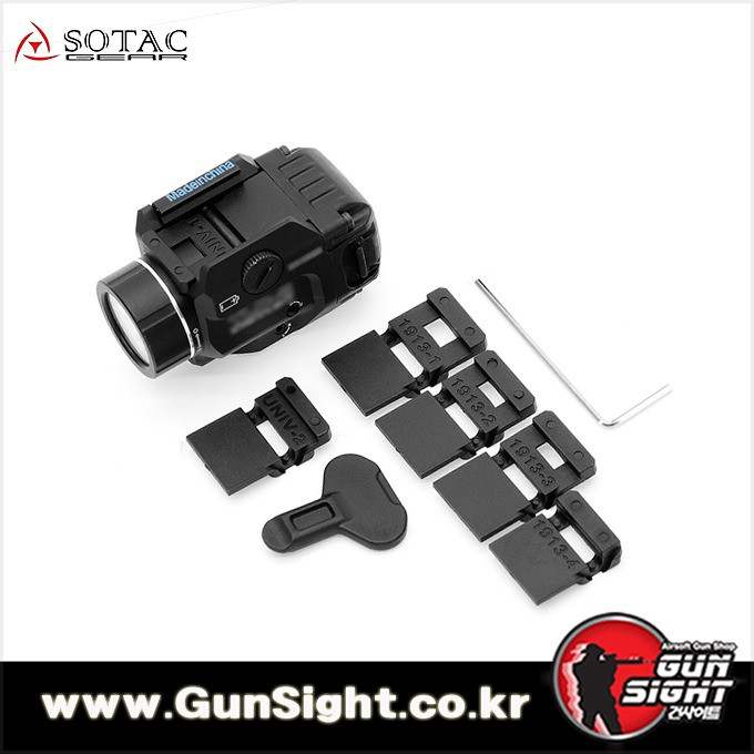 [레플리카] S/TLR-8 Tactical Weapon Light Rail Mounted with Red Laser [BK]