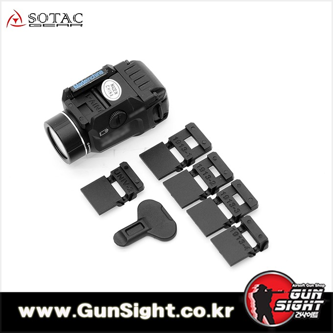 [레플리카] S/TLR -7 Tactical Weapon Light Rail Mounted [BK]