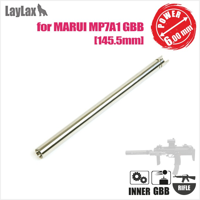 LAYLAX MP7A1 GBB Inner Barrel 145.5mm(Inner φ6.00mm) for MARUI