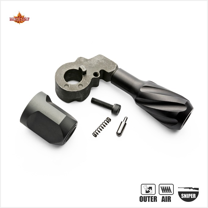 Maple Leaf VSR Twisted Solid Bolt Handle With End Cap for Right Hand-TM VRS 10 용 장전 손잡이 (오른손 용)