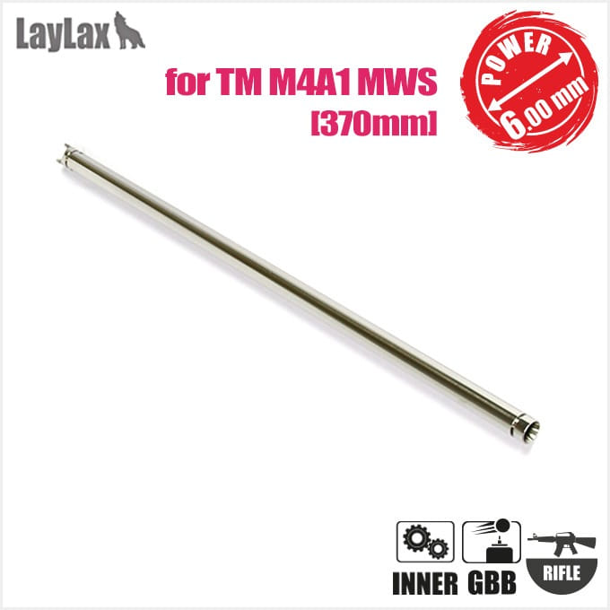 LAYLAX M4A1MWS Inner Barrel 370mm(Inner φ6.00mm) for MARUI GBB