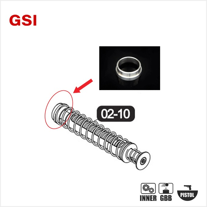 GSI SPRING GUIDE RING for UMAREX GLOCK series [ G17 gen5 / G19 gen4 / G19X / G45 ]