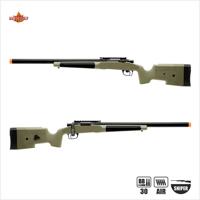 Maple Leaf MLC 338 Bolt Action Air Cocking Sniper Rifle[SPRING-M150][색상선택]-BK,TAN,OD