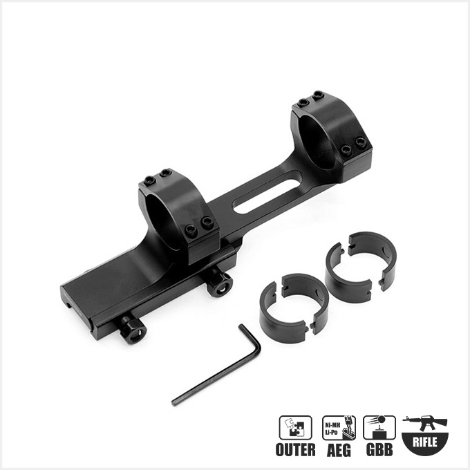 One-Piece 25.4mm 30mm Dual Mount Offset Extended Ring Scope Mount Dual Mount